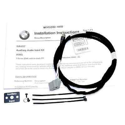 BMW E46 AUX Auxillary Audio Input Kit Iphone Ipod Interface Adapter #389