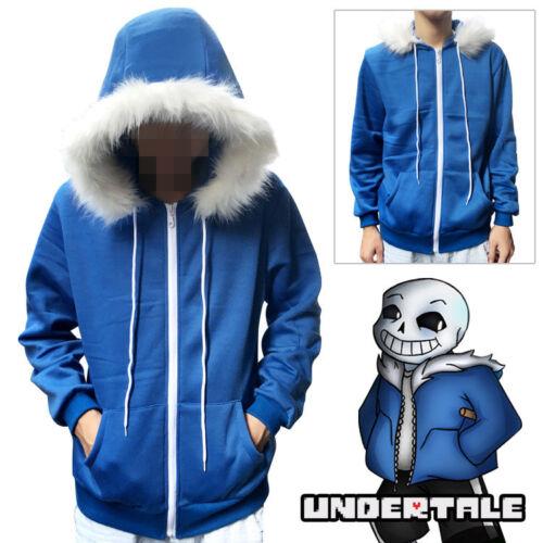 Kid Sans Cosplay Hoodies Undertale COOL SKELETON Sansy Blue Coat Unisex Jacket