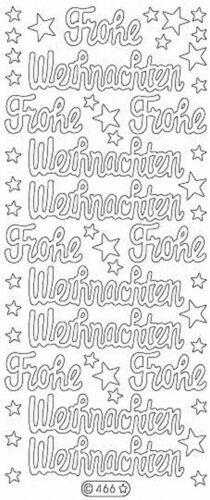 Stickerbogen 466 Gold Nr Frohe Weihnachten Glitzer