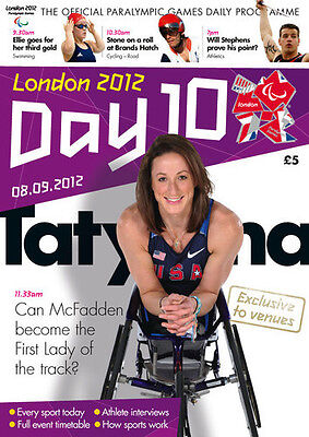 Paralympic Games Day 10 Programme London 2012 * Diplomatic Sports Memorabilia London 2012