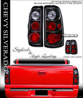 For 2003-2006 Chevy Silverado Black Housing Altezza Tail Lights Brake Lamps L+r on sale