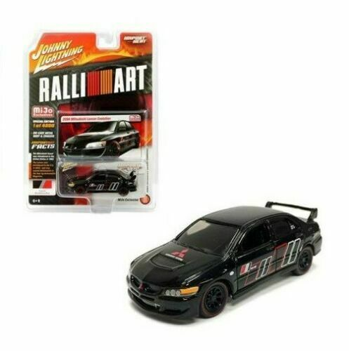 2004 Mitsubishi EVO Ralliart  Black Custom **RR** Johnny Lightning MiJo 1:64 OVP