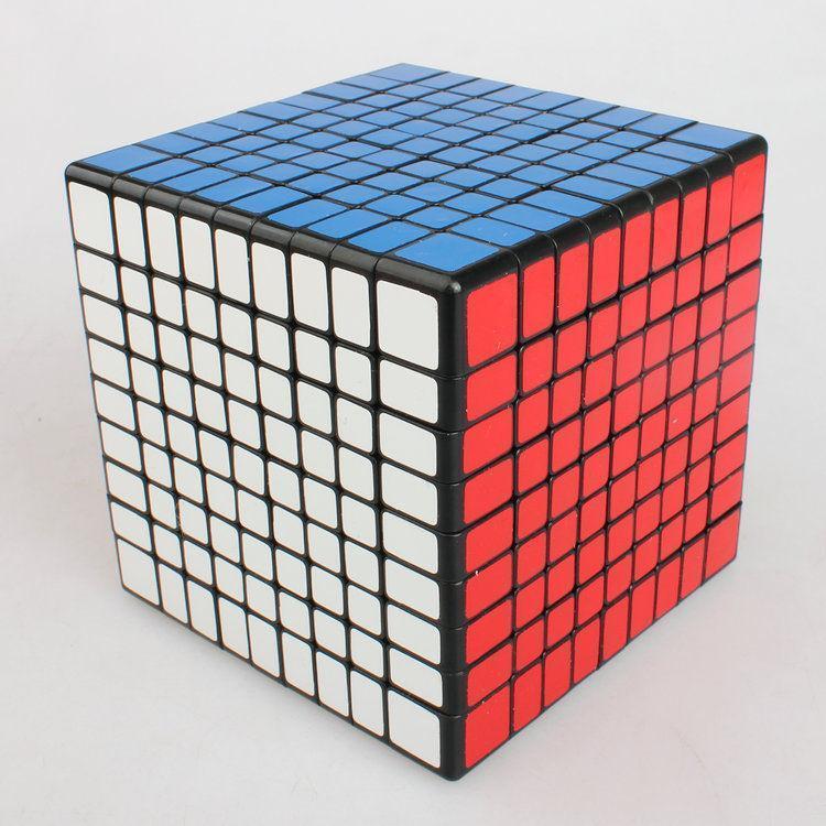 Shengshou 9x9x9 Professional Speed Cube Magic Cube Twist Puzzle Jouet Noir Blanc