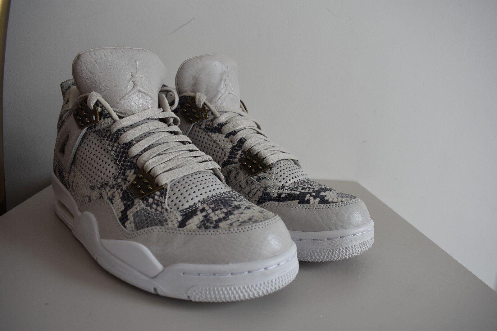 Premium Air Jordan Retro 4, Pelle di serpente. LIMITED Edition. Taglia 9 UK (RARA)