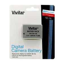 Vivitar Battery 1300 mAh for Canon Nb-10l PowerShot Sx40 Is Sx40 HS G1x