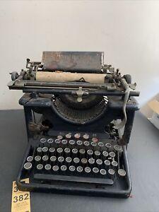 Remington Standard Model 10 Typewriter 1900's Black for Parts/Repair Decoration