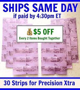 30 Blood Ketone Test Strips for Abbott PRECISION XTRA&Optium Meter DEC '20 keto