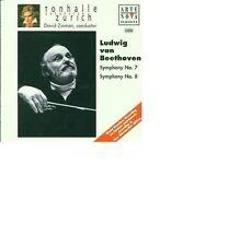 Beethoven ; Symphony 7 & 8  David Zinman Tonhalle Orchestra Zurich  Neu