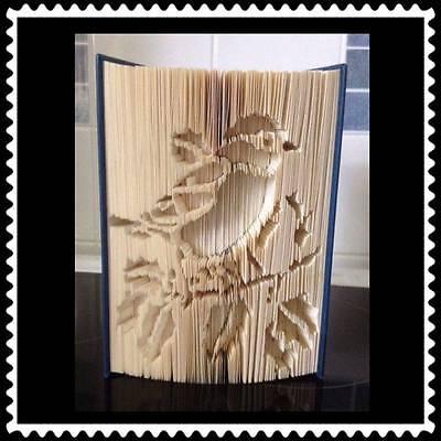 Star Alphabet Folded Book Art Folding PATTERN ONLY Combination method