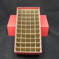 Penny (cent) Round Or Square Coin Tube Or Roll Storage Box W/dividers Holds 50