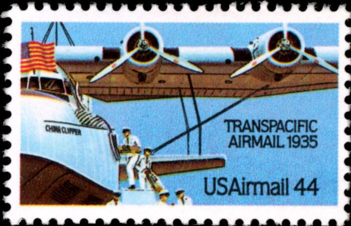 1985 44c Transpacific Airmail, China Clipper Scott C115