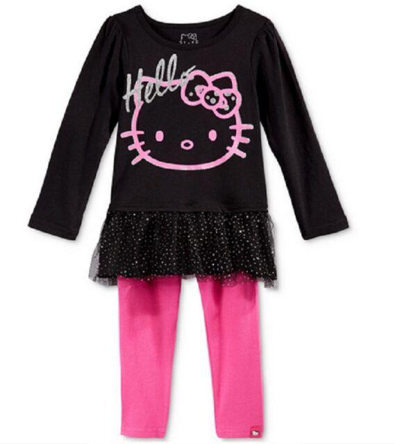 Hello Kitty Little Girls Rhinestone 2-Piece Jogging Set