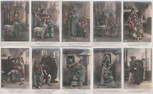 Cartes-postales-anciennes-colorisees-CPA-Serie-de10-Notre-Dame-de-Paris-N-809