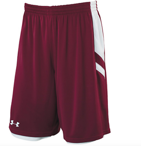 New-UNDER-ARMOUR-Undeniable-Reversible-Basketball-Shorts-men-maroon-White