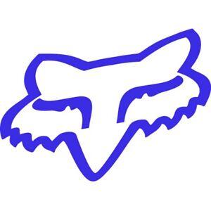 5,5 X 3,5cm Fox Head Aufkleber Blau Größe Auto & Motorrad: Teile Accessoires & Fanartikel
