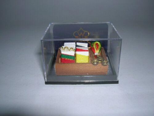 Reutter Porzellan Nähutensilien//Wood Sewing Caddy 1.322//5 poupée 1:12