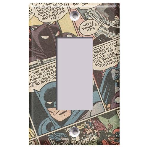 Batman Comic Pattern Light Switch Covers Home Decor Outlet