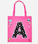 Justice Girl/'s Pink Space Star Initial Tote NWT
