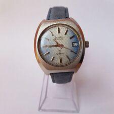 (206) sehr seltene blaue ZENTRA SAFARI AUTOMATIC Herren Uhr