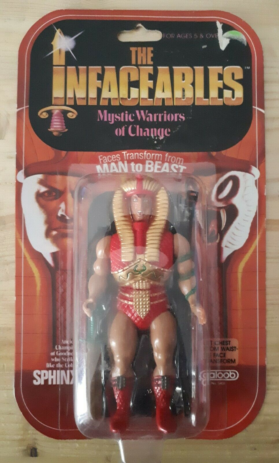 The Infaceables Bestioids Cobra Sphinx personaggio GIG Galoob 1985 action figure