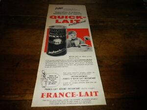 France-Lait-Quick-Lait-Publicidad-de-Prensa-Press-Publicidad-1958
