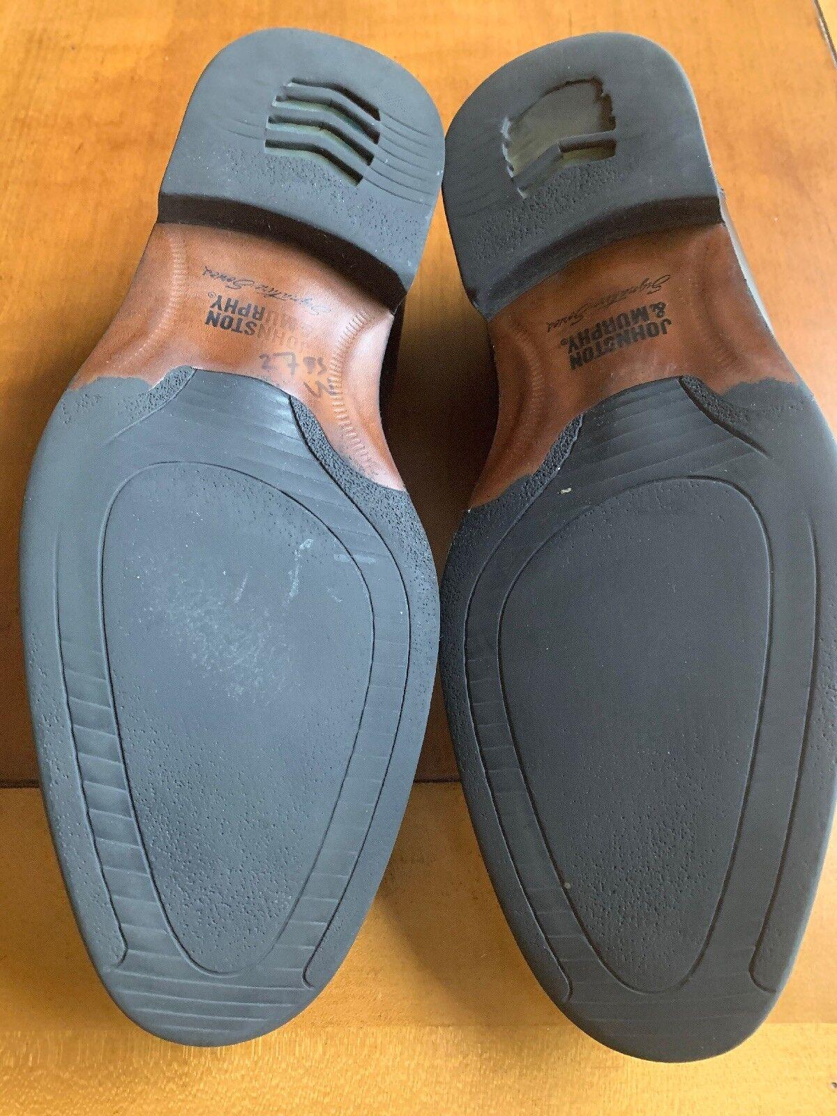Johnston Murphy Black Signature Series Sheepskin Dress Penny Loafers Men 11 M