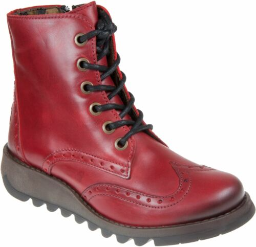 Fly london Sarl069fly Red Womens Leather Ankle Boots