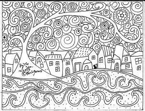 RUG-HOOK-PAPER-PATTERN-By-The-Sea-FOLK-ART-ABSTRACT-PRIMITIVE-KARLA-GERARD