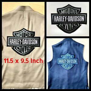 XXL-Harley Davidson Embroidered Motorcycle Patch/Badge Iron/Sew on, JACKET, VEST