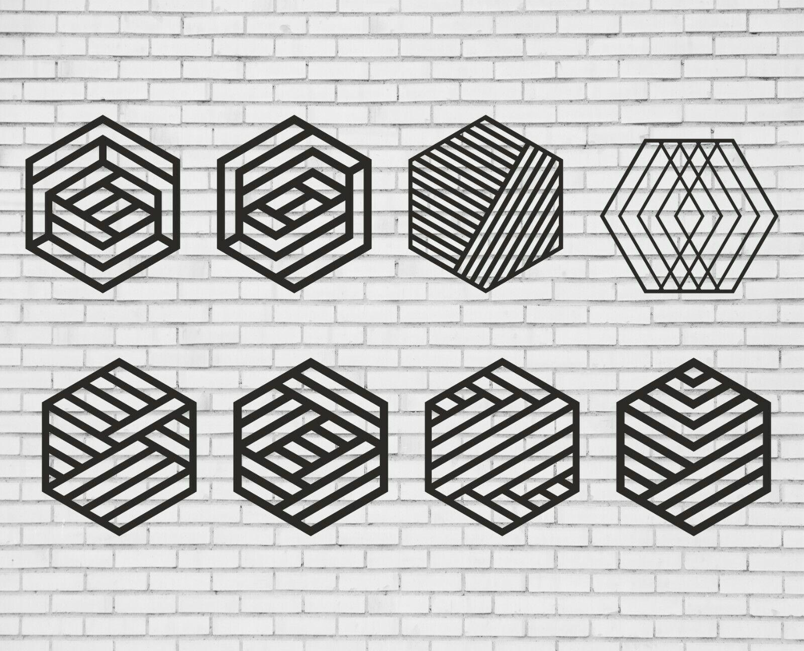 Geometric Pattern Set Of 34 Items Hexagon Svg Wall Decor Svg Triangle Dxf Ebay