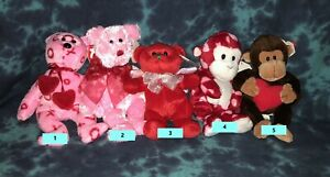 Valentine Beanie Babies - Very Cute - Select from List - All NEW & Mint Retired