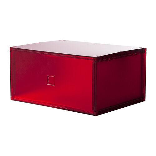 IKEA LEKMAN Storage Box white or gray red