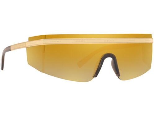 BROWN MIRROR GOLD 45 MM VE2208 NWT Versace Sunglasses VE 2208 10027P GOLD