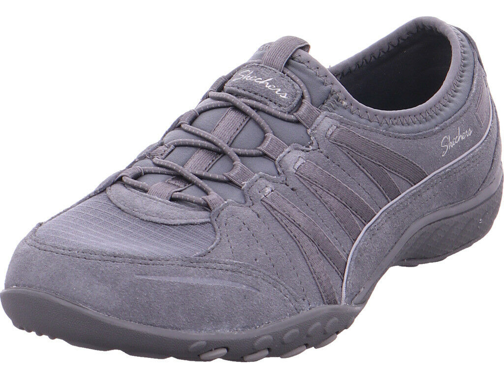 SKECHERS Damen BREATHE-EASY - MONEYBAGS,Grau Slipper grau