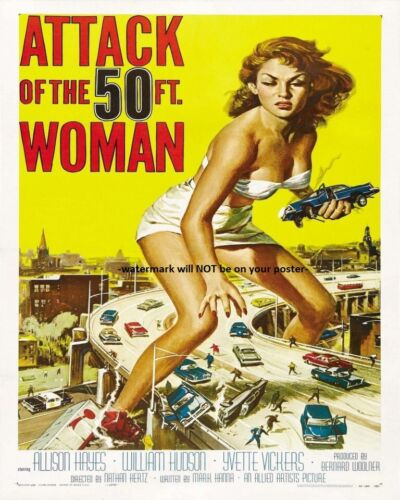 8x10 Attack of the 50 Foot Woman PHOTO Movie Poster 1958 Sci-Fi Classic Scary