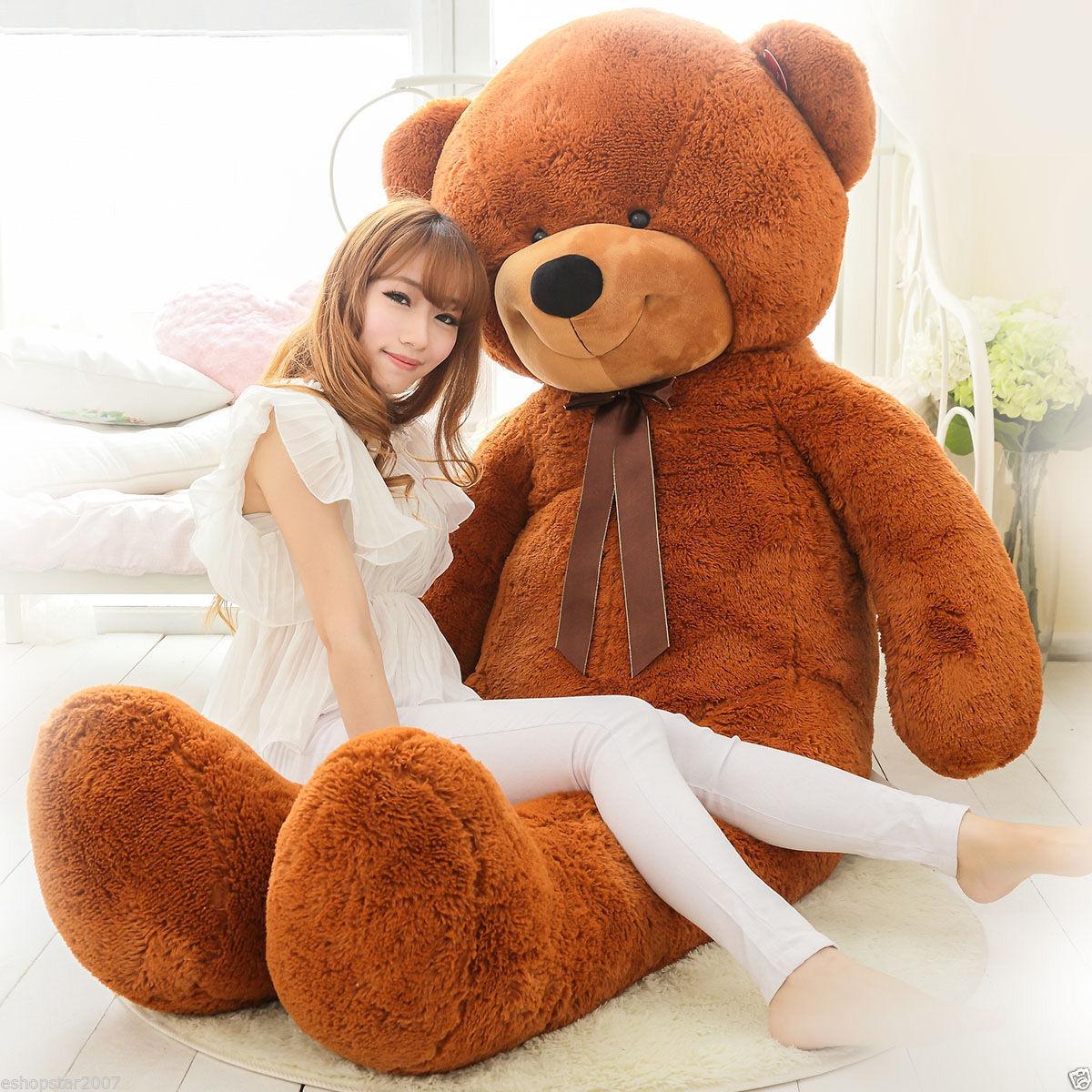 Nuovo Arrival 200cm Huge Soft Giant Big Plush Dark marrone Teddy Bear Doll Toy Gifts