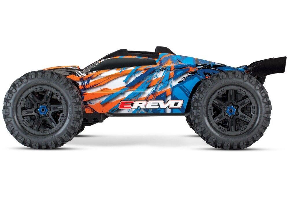 Traxxas E-Revo VXL 4wd am. monstruos Truck bl azul naranja v.2018 tqi2.4ghz rtr 1 10