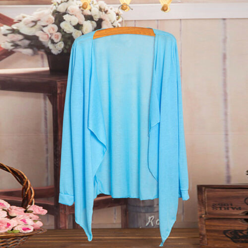 Summer Women Lady Long Thin Cardigan Modal Sun Protection Clothing Cover Up Tops