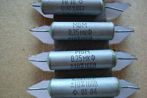 NOS. 0.25 uF 160 V Paper Capacitors.MBM Box of 50