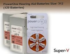 PowerOne Hearing Aid Batteries PR41, p312, SIZE 312 (120 Batteries)
