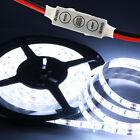 Cool White 5630 SMD 5M 60LEDS/M Waterproof 12V DC LED Strip Light & 3keys Dimmer