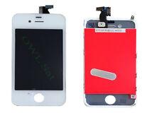 Ersatz LCD Display Touchscreen Glas passend für iPhone 4 S weiß plus Gitter