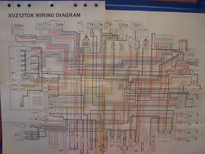 image is loading nos-yamaha-factory-wiring-diagram-1983-xvz-12-