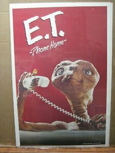 Vintage-Poster-E-T-The-Extra-Terrestrial-Movie-1982-Alien-Inv-G6171