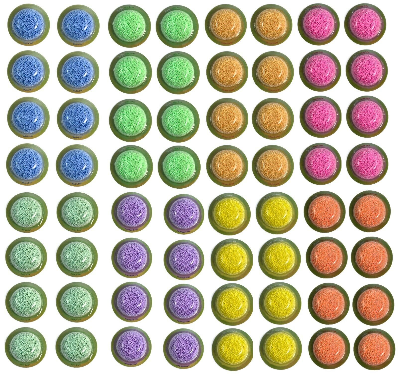 64 pcs Individual Play Foam Pods Tactile Sensory Toy Kids Autism Fidget