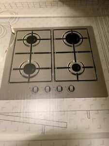 Details About Cooke Lewis Gasuit4 4 Burner Stainless Steel Gas Hob