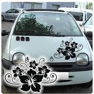 hibiskus blumen schmetterling autoaufkleber auto aufkleber. Black Bedroom Furniture Sets. Home Design Ideas