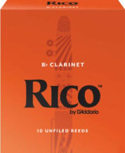 D/'ADDARIO # 3 BOX OF 10 Bb RICO CLARINET REEDS