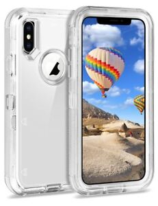 Details About Otterbox Inspired Iphone Xs Max X Transparent Clear Defender Cover Case