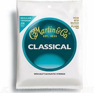 MUTA-SET-CORDE-MARTIN-M220-CHITARRA-CLASSICA-028-043-REGULAR-TENSION-BRONZE